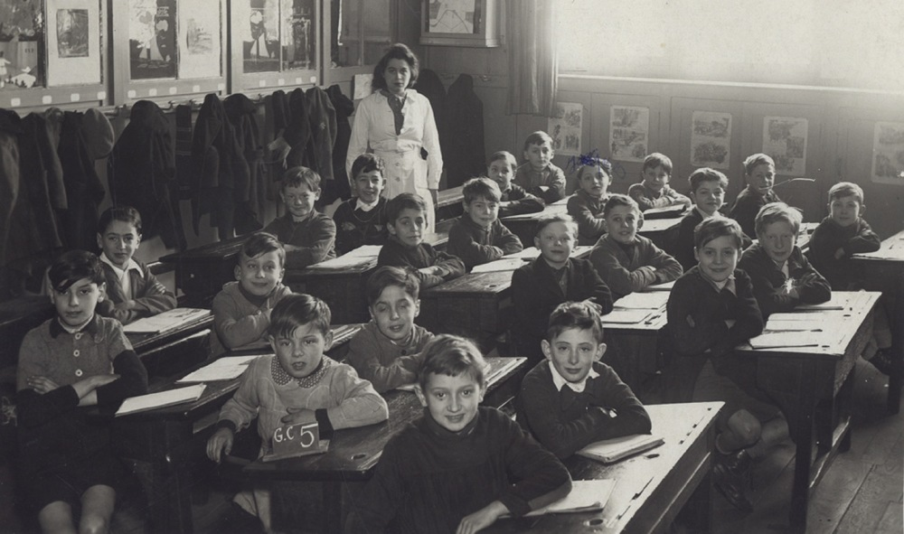 Une classe de l'école Godefroy Cavaignac,en 1941