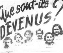 Charles Belchatowski,Fanny et Hélène Sosnovik; 3 enfants déportés du 11ème figurent sur cet avis de recherche publié en 1945. Source: Documentation photographique de la photothèque du CDJC (responsable:Lior Smadja)