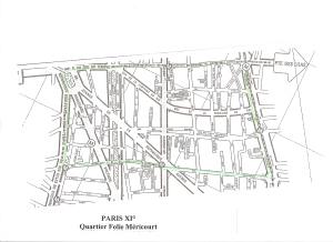 Plan de Paris XI° Quartier Folie-Méricourt0002