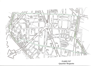 Plan de Paris XI° Quartier Roquette0001