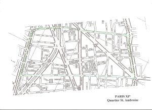 Plan de Paris XI° Quartier St. Ambroise0001