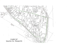 Plan de Paris XI° Quartier Ste Marguerite0002