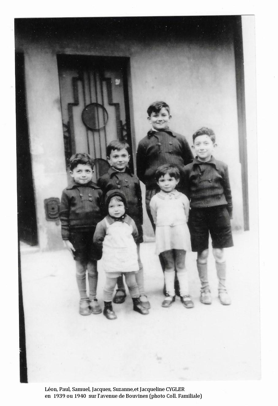 CYGLER_fratrie_1940_Léon_Paul_Samuel_Jacques_Suzanne_et_Jacqueline.JPG
